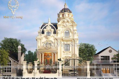 Thiết kế lâu đài cổ điển 4 tầng pháp lộng lẫy – LD 4126