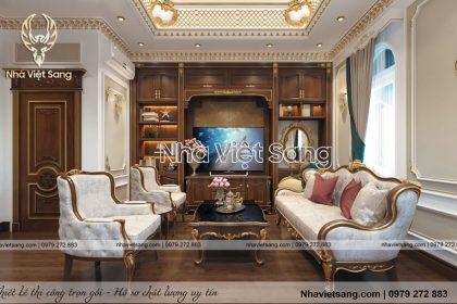 Mẫu nội thất tân cổ điển 2 tầng Gia đình Anh Minh – NT 2247
