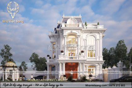 Ngỡ ngàng mẫu biệt thự 3 tầng tân cổ điển – BT 3261