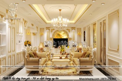 Thiết kế nội thất tân cổ sang, đẳng cấp Chú Thế – NT 6111