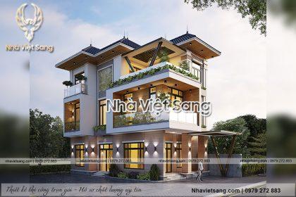 Thiết kế biệt thự 3 tầng hiện đại sang trọng – BT 3259