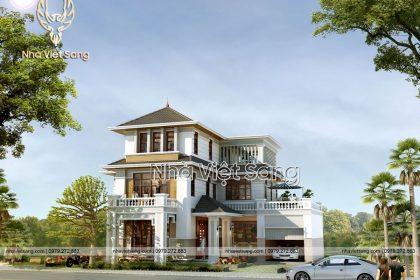 Mẫu biệt thự 3 tầng hiện đại đẹp ngỡ ngàng – BT 3267