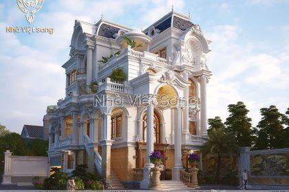 Thiết kế biệt thự 4 tầng tân cổ điển pháp – BT 4123