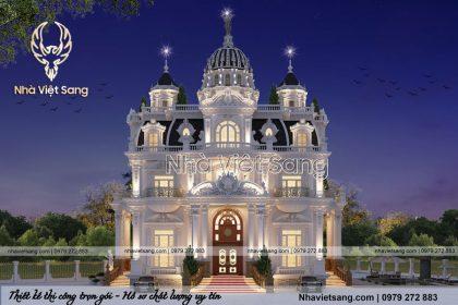 Thiết kế lâu đài cổ điển 3 tầng pháp đẳng cấp – LD 3268