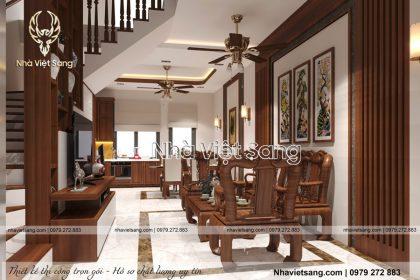 Thiết kế nội thất hiện đại biệt thự đẹp – NT 0163
