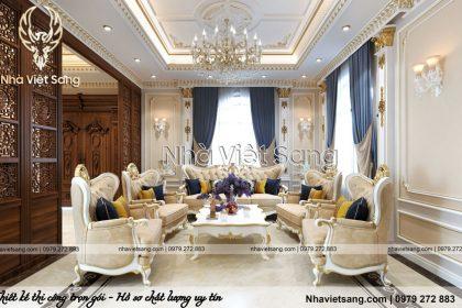Thiết kế nội thất tân cổ điển sang trọng Anh Thông – NT 1121