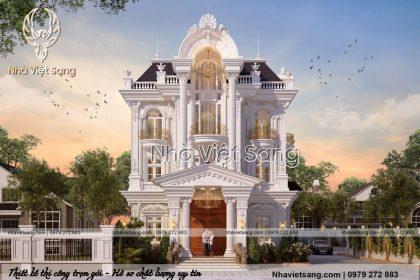 Thiết kế biệt thự 3 tầng tân cổ điển mặt tiền 12x20m2 – BT 3252