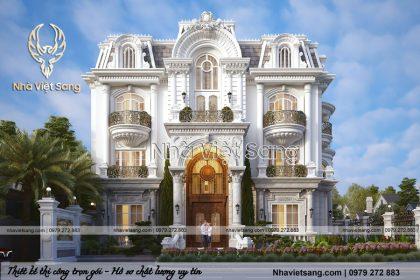 Mẫu thiết kế biệt thự 3 tầng 1 tum tân cổ điển – BT 3270