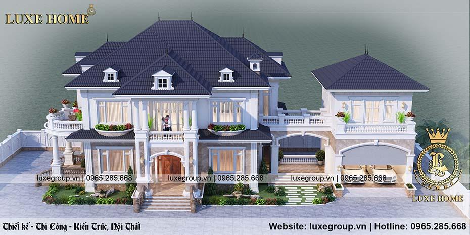 thiết kế biệt thự 2 tầng đẹp bt 21968