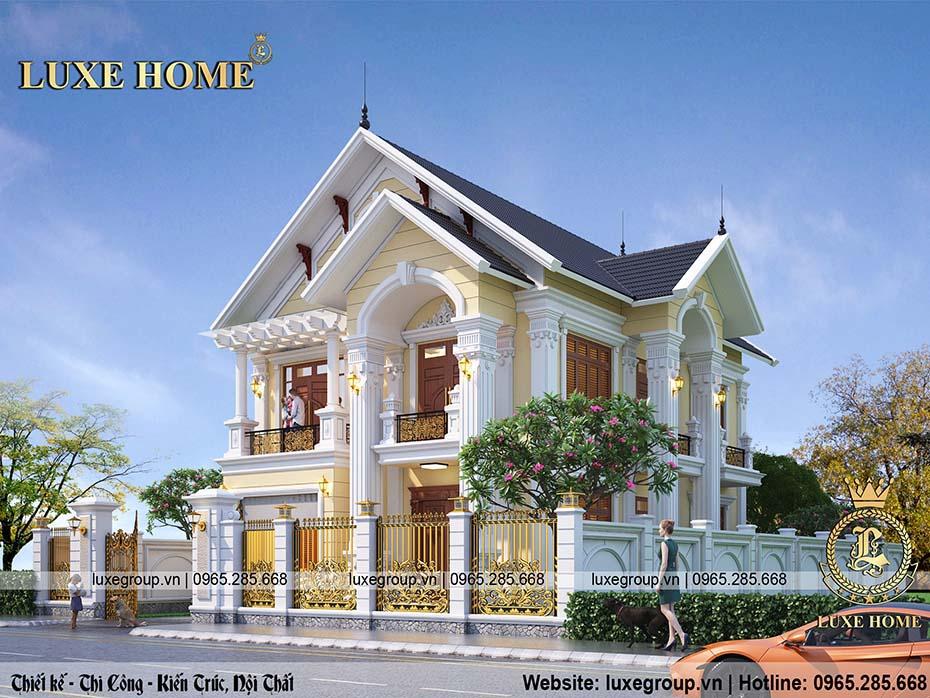 biệt thự 2 tầng tân cổ điển luxe home bt 22065