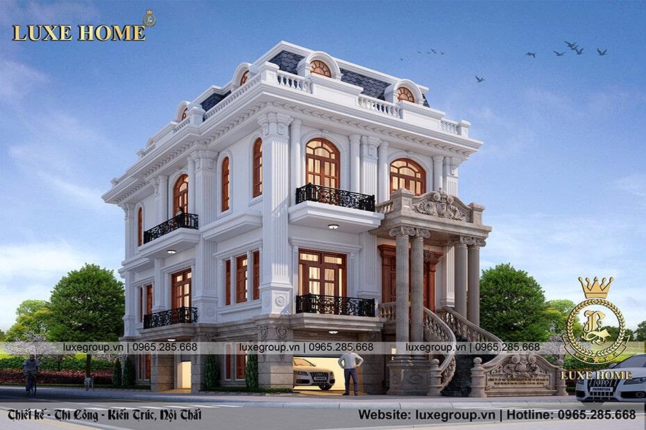 thiết kế biệt thự 3 tầng đẹp bt 3183