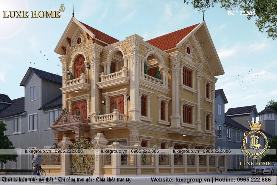 biệt thự cổ điển 3 tầng bt 31515