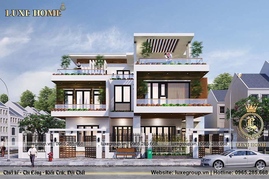 Thiết kế biệt thự hiện đại 3 tầng bt 31925