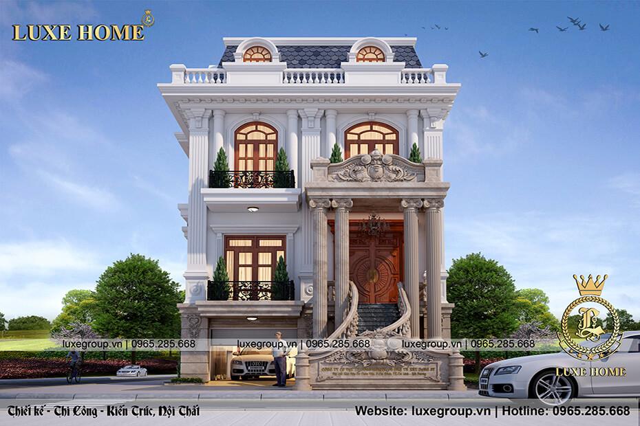 biệt thự 3 tầng phong cách tân cổ điển bt 31835