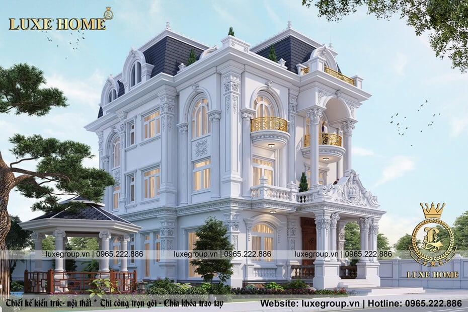 mẫu biệt thự lâu đài luxe home bt 31351