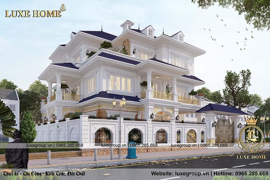 thiết kế biệt thự mái thái 3 tầng bt 3198