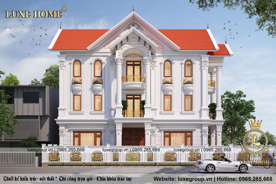 thiết kế biệt thự 3 tầng tân cổ điển bt 31715
