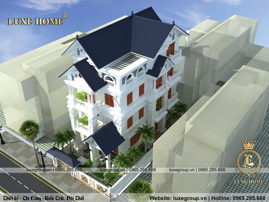 biệt thự 4 tầng mái thái bt 4116