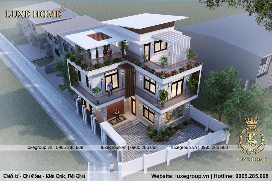 thiết kế biệt thự 3 tầng đẹp bt 3217