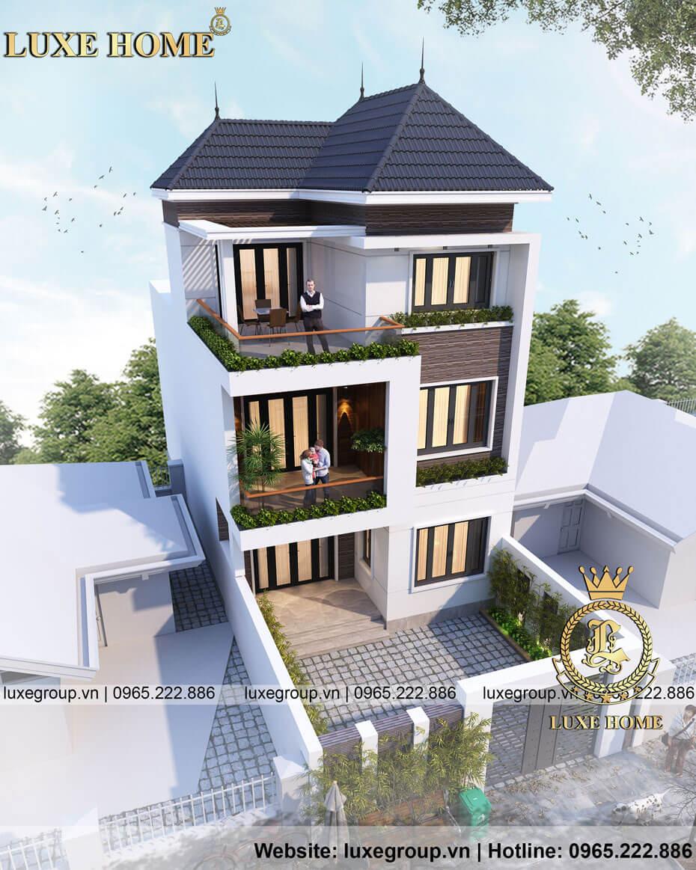 biệt thự hiện đại 3 tầng bt 31665