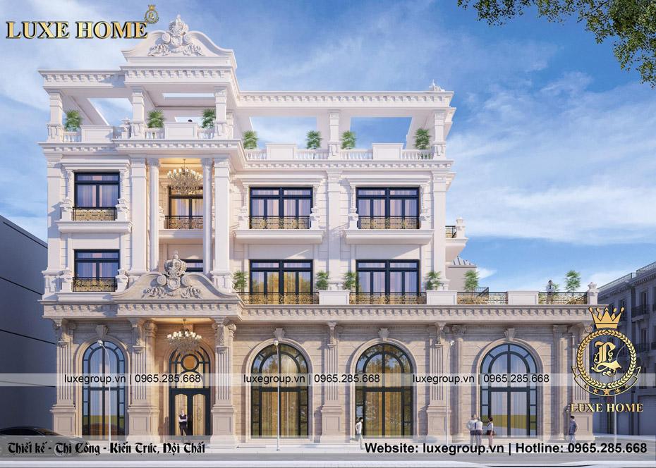 thiết kế biệt thự tân cổ điển 3 tầng bt 3244