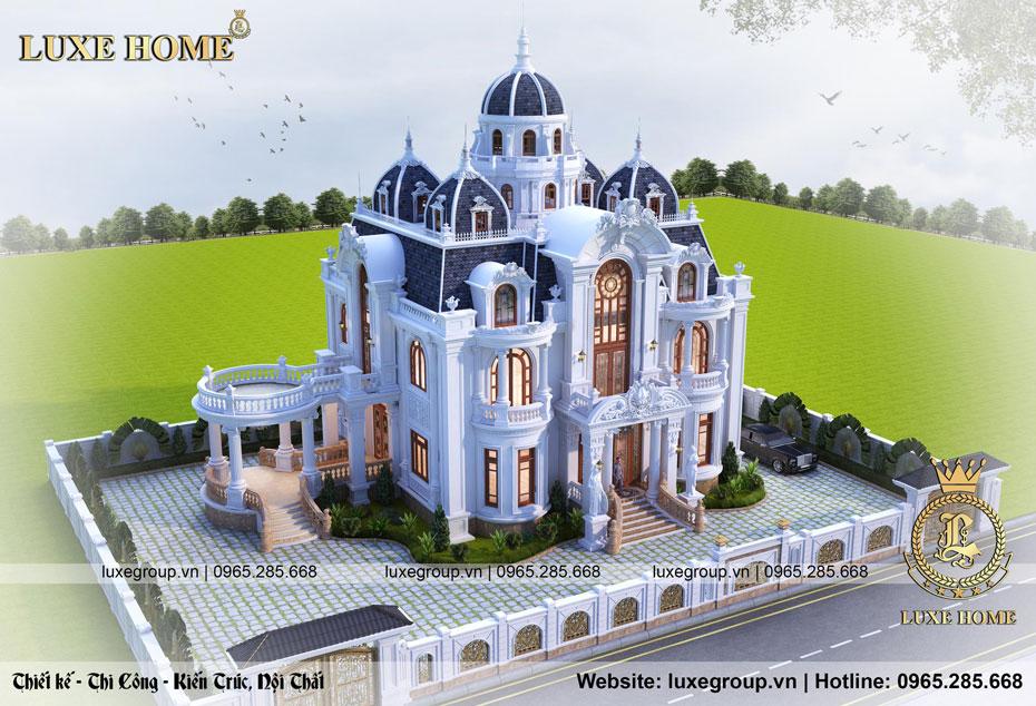 lâu đài 2 tầng tân cổ điển bt 22398