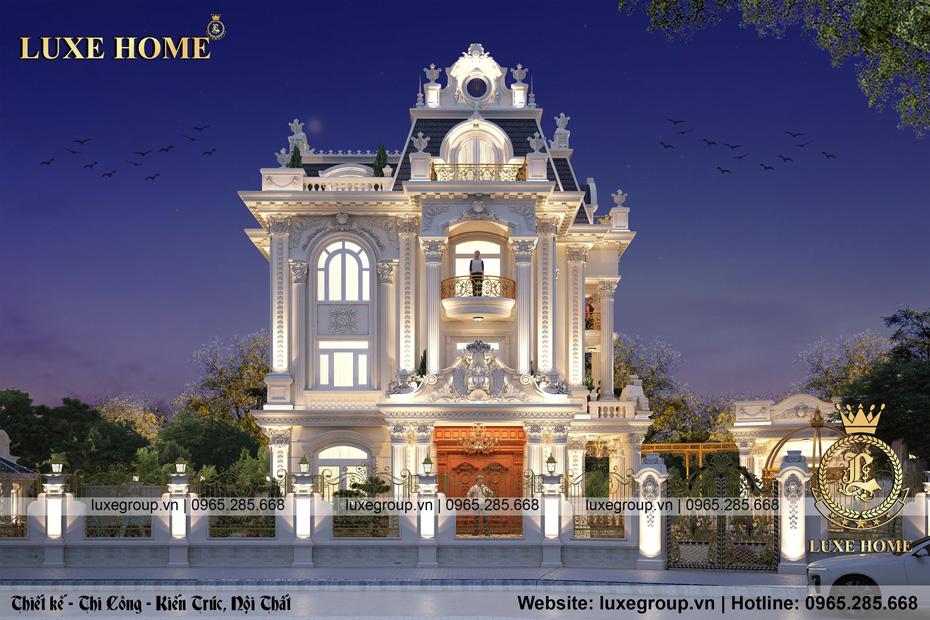 mẫu thiết kế biệt thự lâu đài tân cổ điển 3 tầng