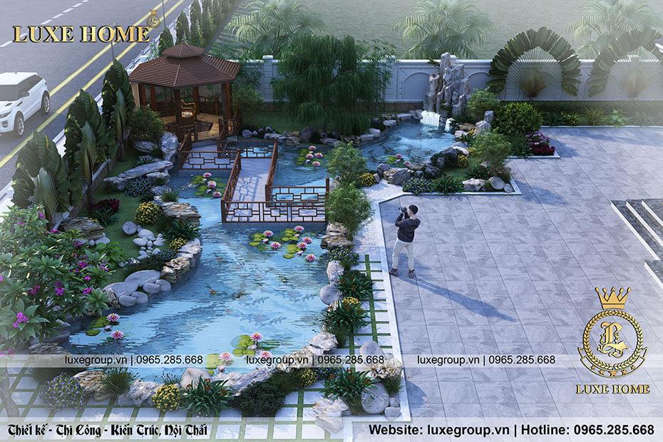 biệt thự mái thái sân vườn đẹp bt 2191