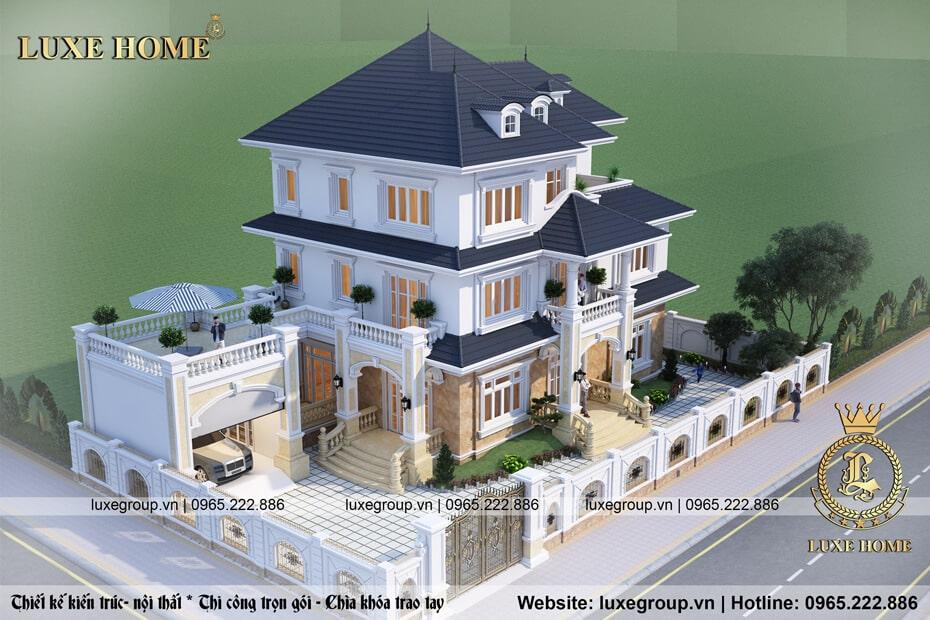 biệt thự tân cổ điển 3 tầng bt 3126 05