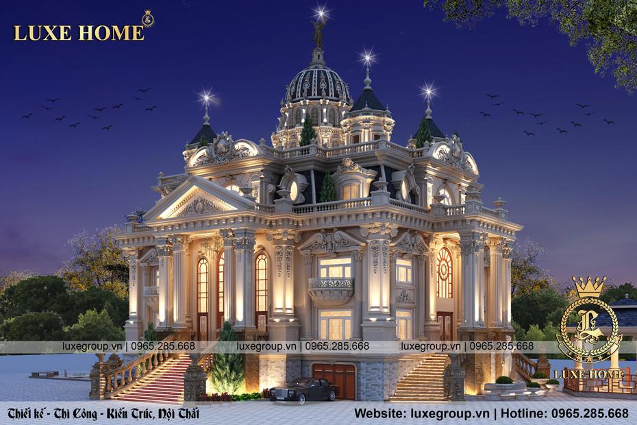 lâu đài kiến trúc phong cách cổ điển