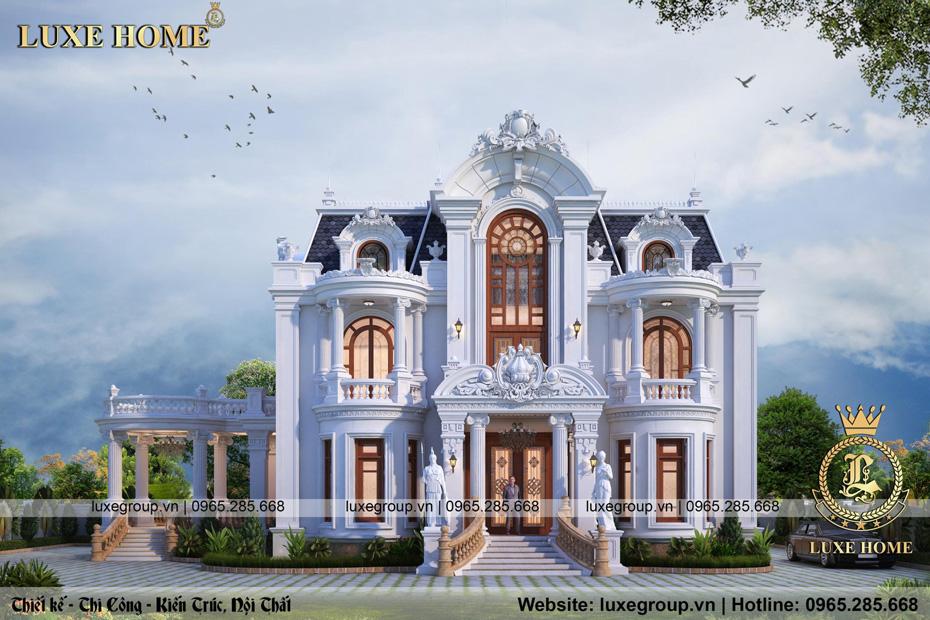 thiết kế lâu đài 2 tầng tân cổ điển ld 2244