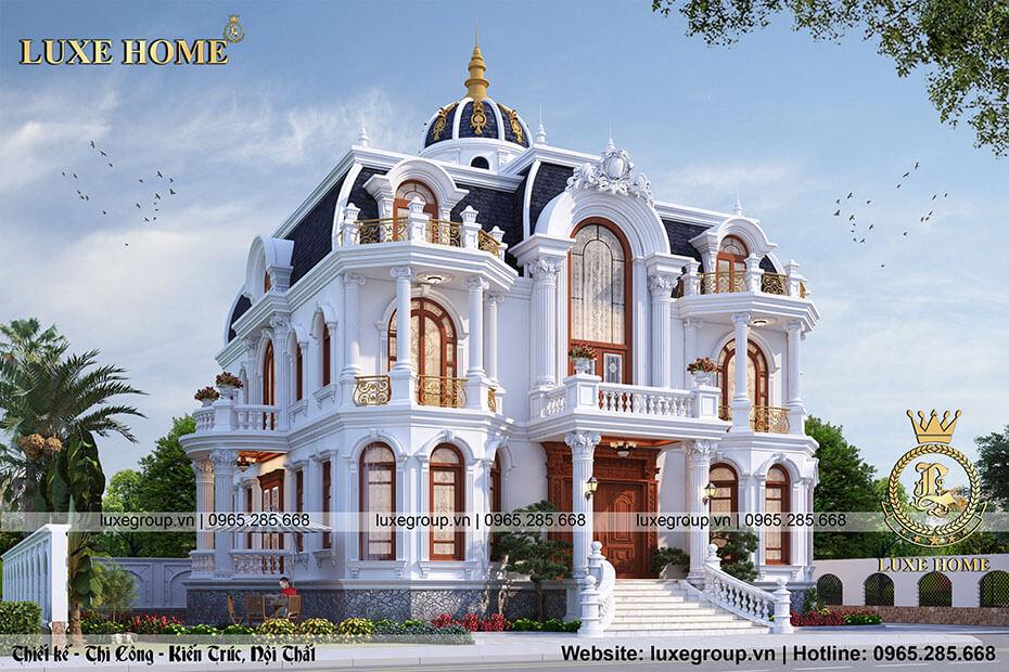 lâu đài biệt thự 2 tầng ld 21973