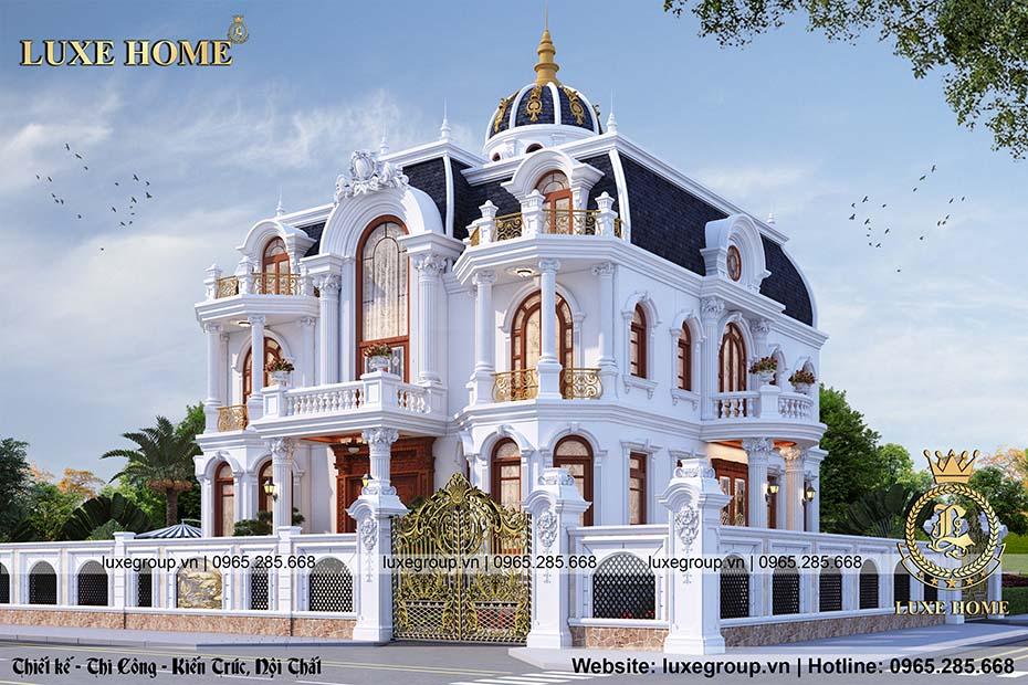 lâu đài 2 tầng tân cổ điển nguy nga ld 21978