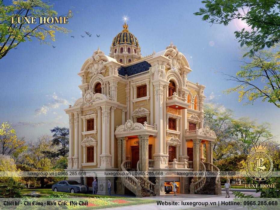 thiết kế lâu đài 3 tầng cổ điển pháp ld 3226