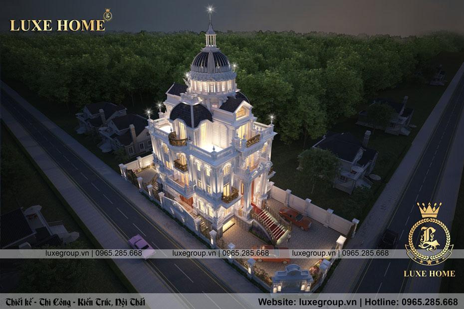 thiết kế lâu đài pháp cổ điển ld 3134