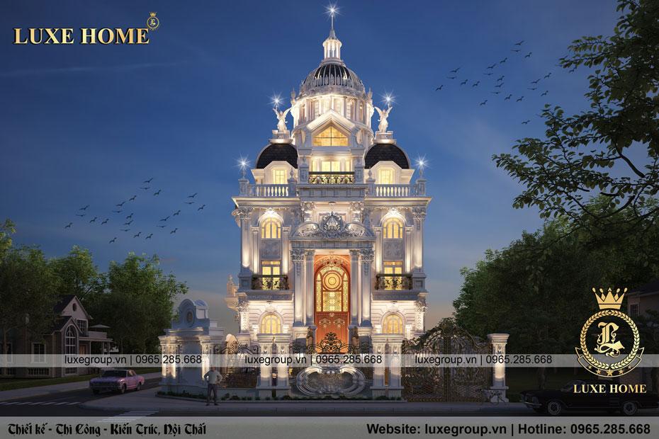 thiết kế lâu đài 3 tầng cổ điển pháp ld 3134