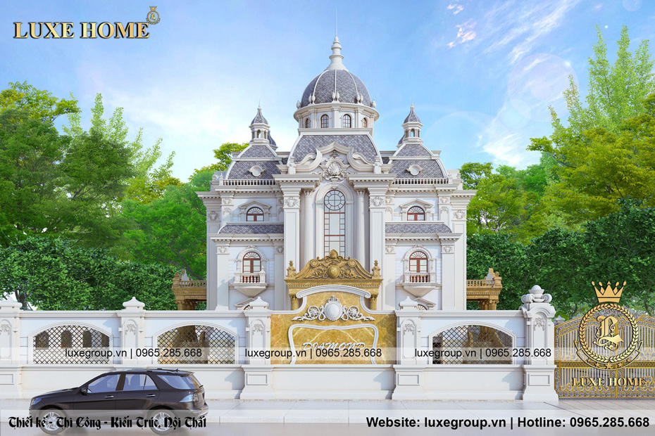 thiết kế lâu đài pháp 3 tầng cổ điển ld 3229