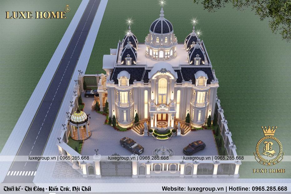 tổng thể lâu đài 2 tầng tân cổ điển pháp ld 2249