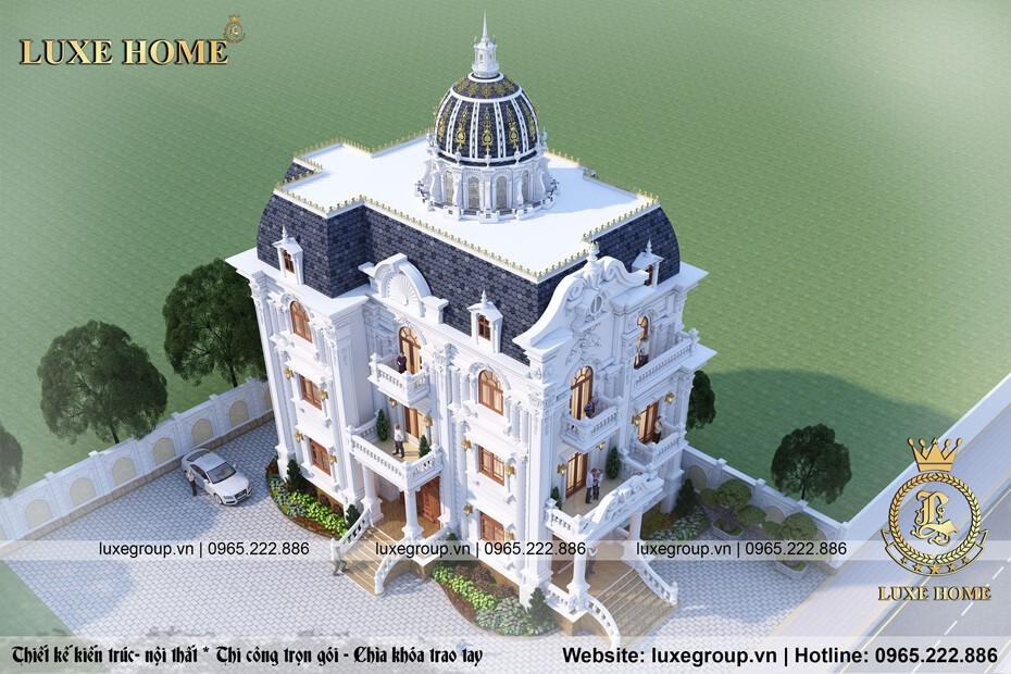 Mẫu biệt thự cổ điển 3 tầng pháp bt 31225