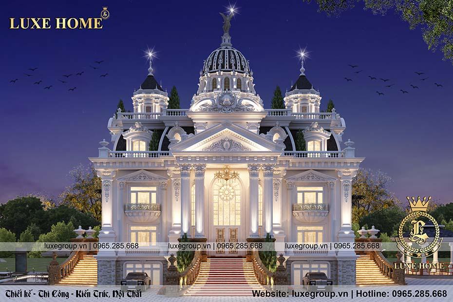 thiết kế lâu đài 4 tầng ld 41155