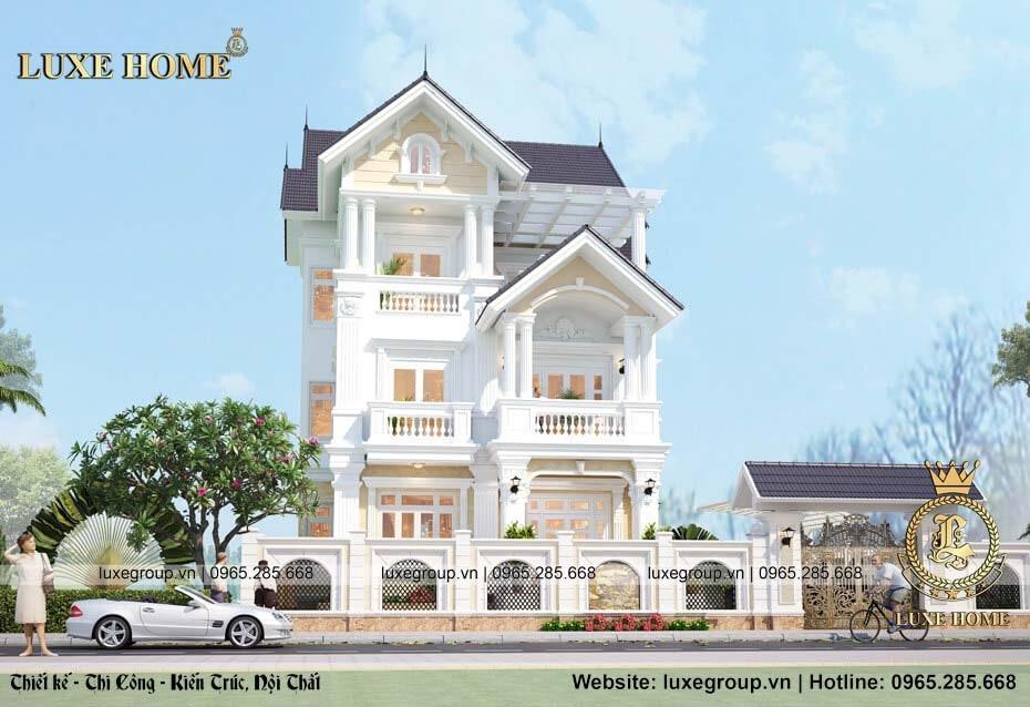 mẫu nhà biệt thự 3 tầng đẹp bt 3138
