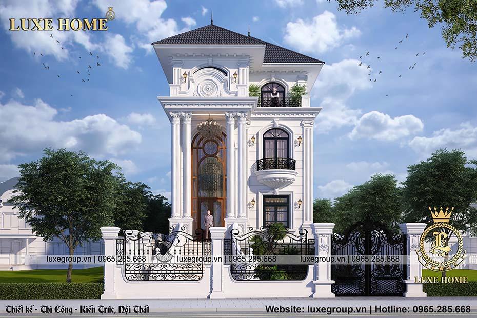 thiết kế biệt thự 3 tầng sân vườn bt 3206