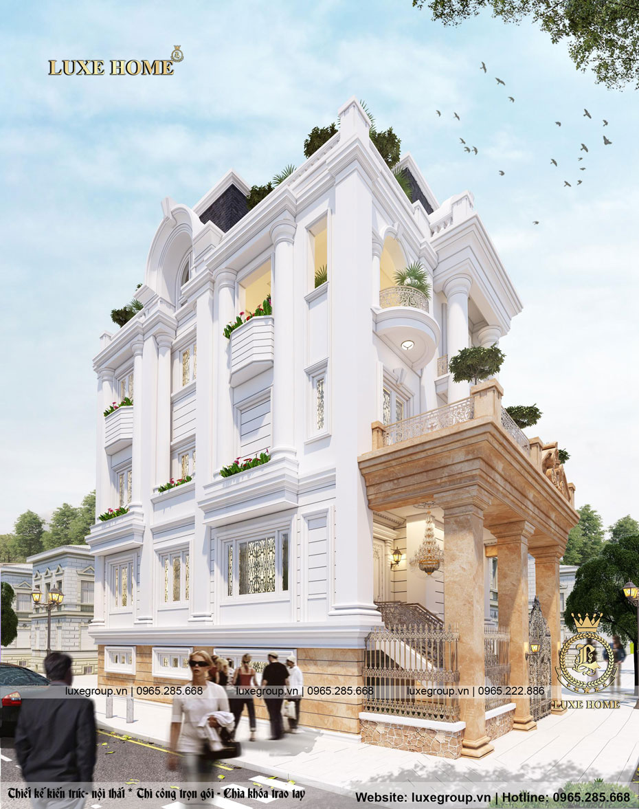 nhà biệt thự pháp 3 tầng bt 3140