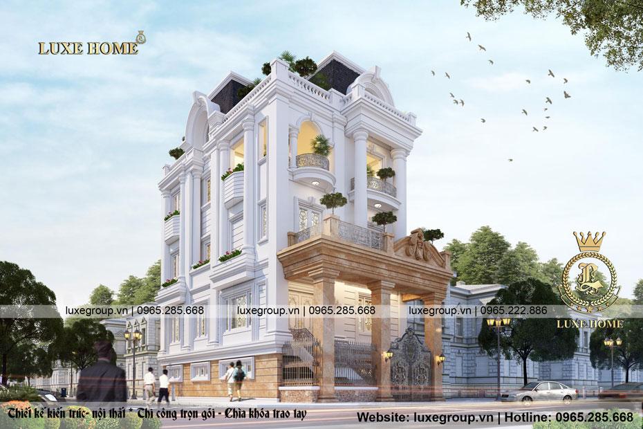 nhà biệt thự 3 tầng pháp bt 3140