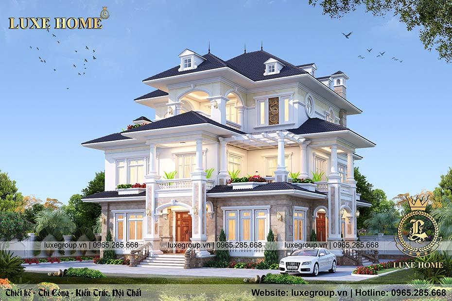 nhà 3 tầng đẹp mái thái bt 3188