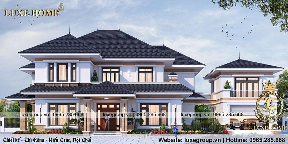 nhà biệt thự mái thái 2 tầng bt 2195