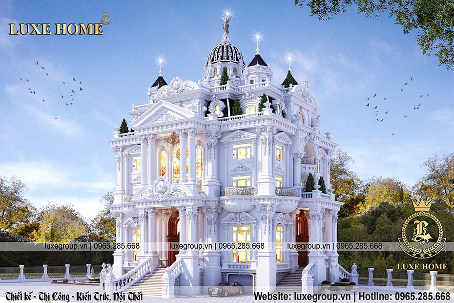 nhìn tổng quan lâu đài cổ điển ld 6119