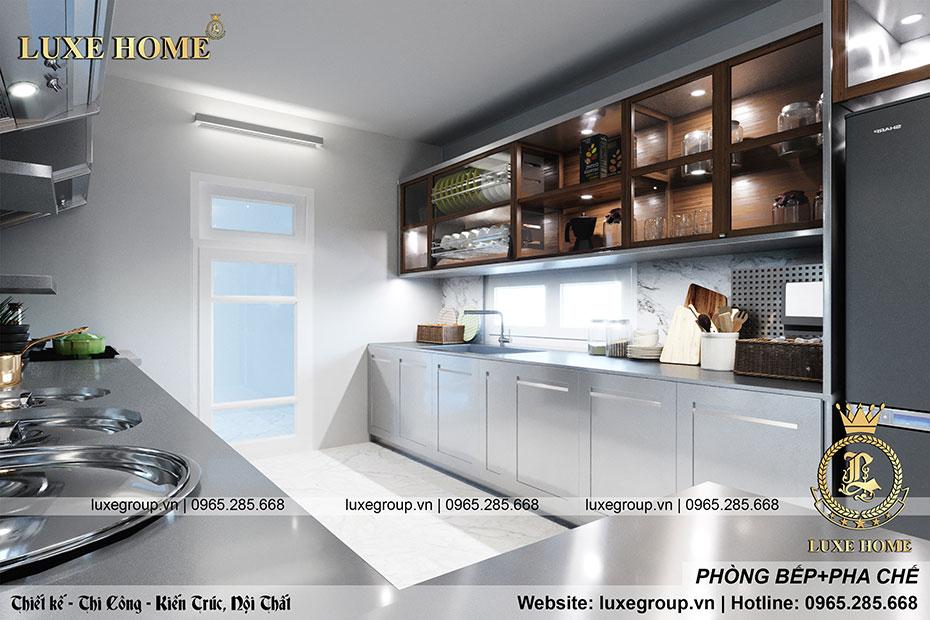 thiết kế phòng bếp và pha chế quán coffe
