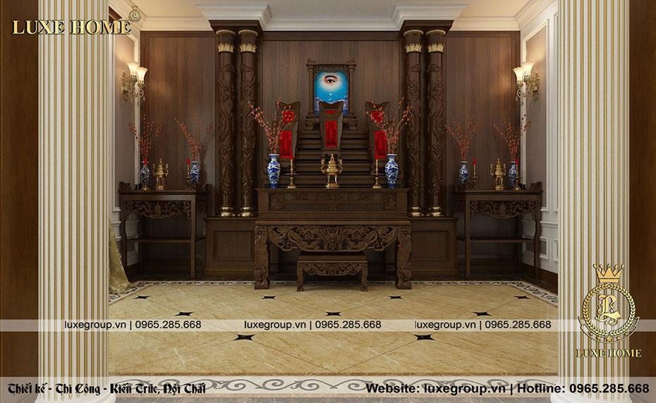 phòng thờ nhà chú vinh