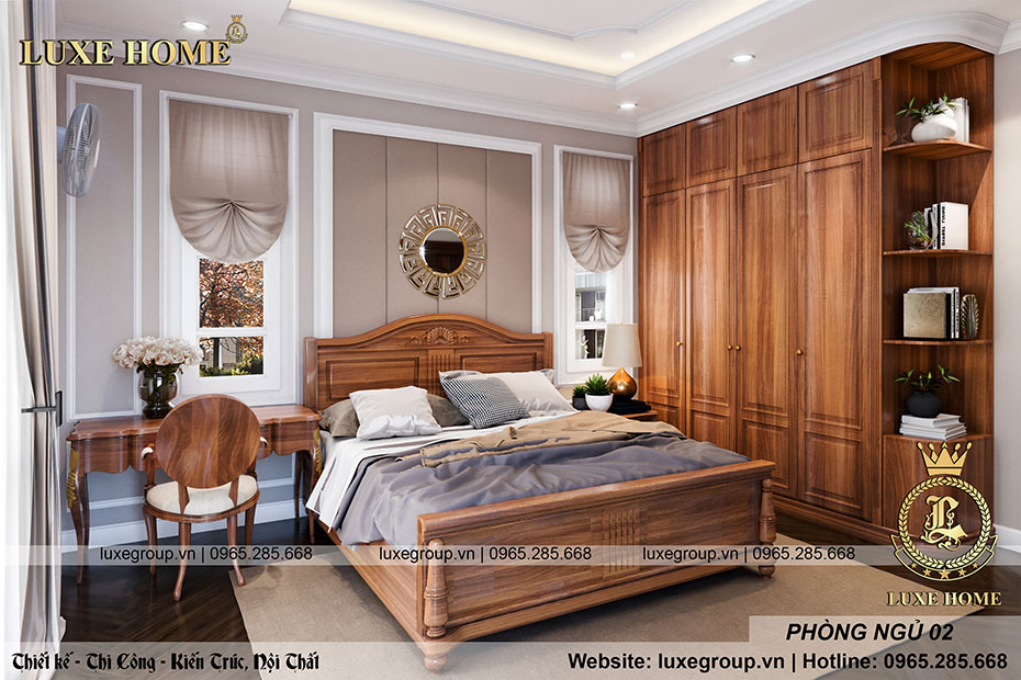 thiết kế phòng ngủ sang trọng nhà anh khang